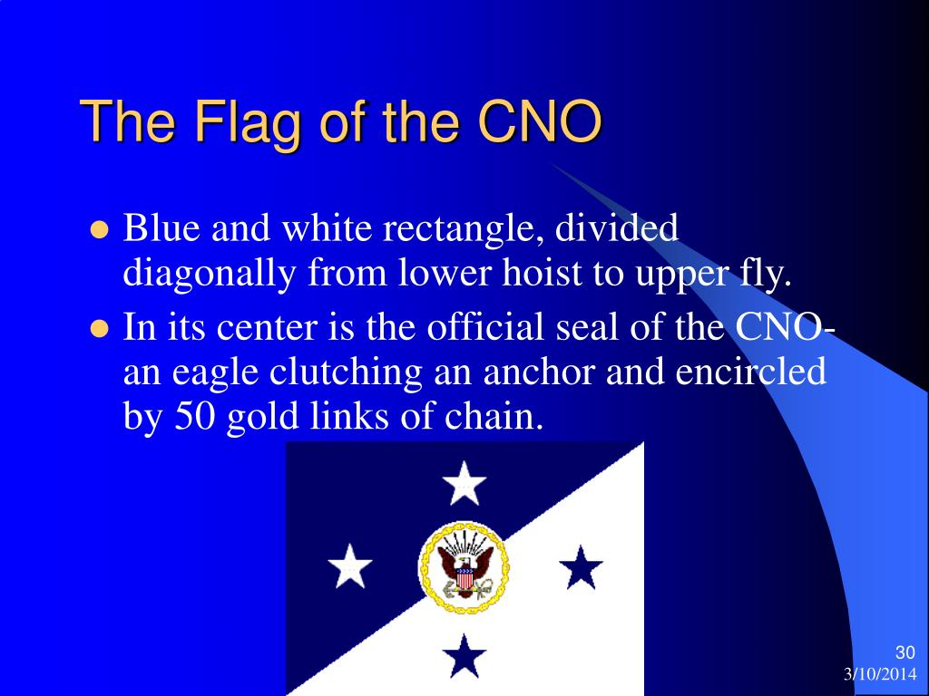 The Flag of the CNO