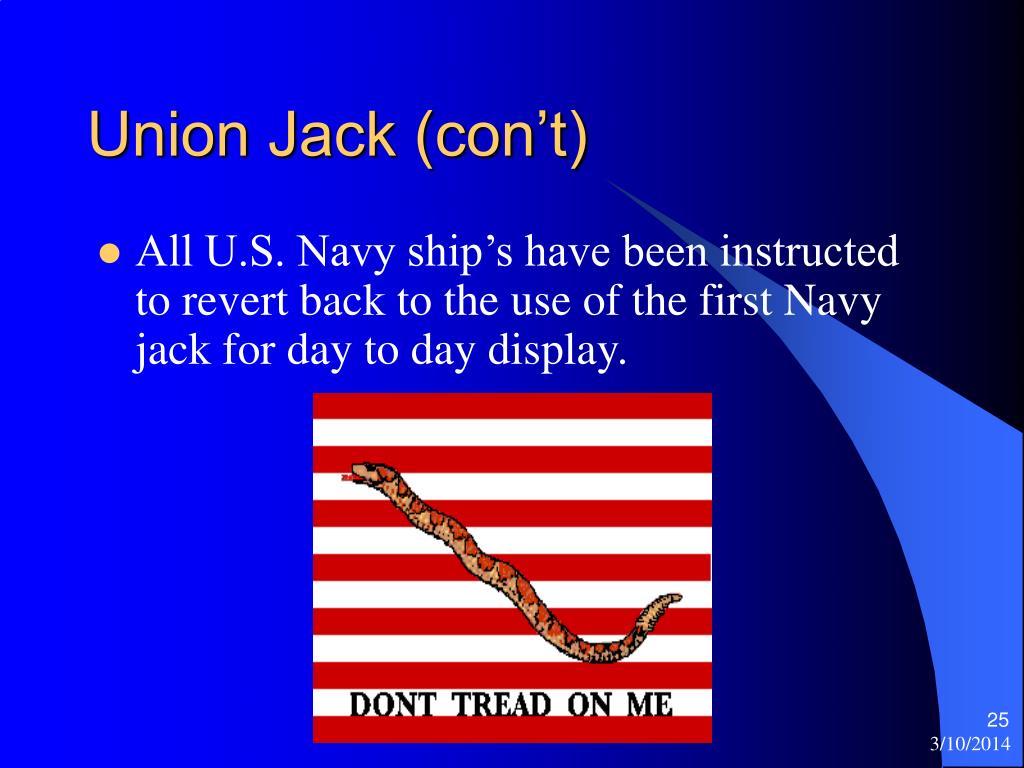 Union Jack (con't)