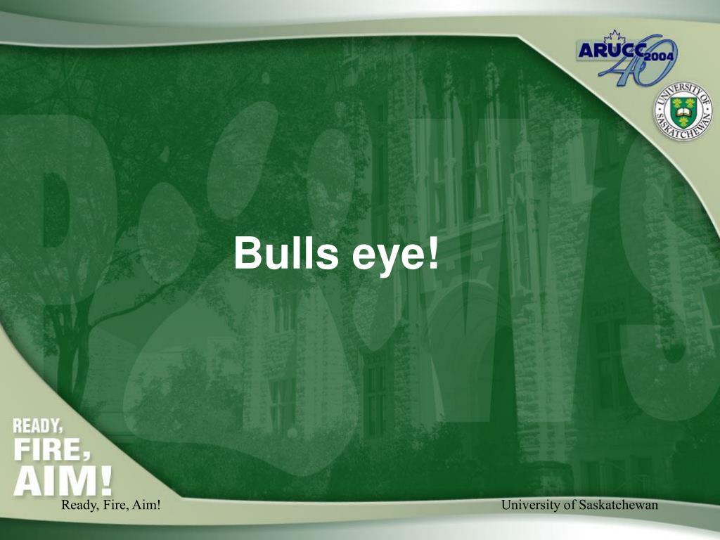 Bulls eye!