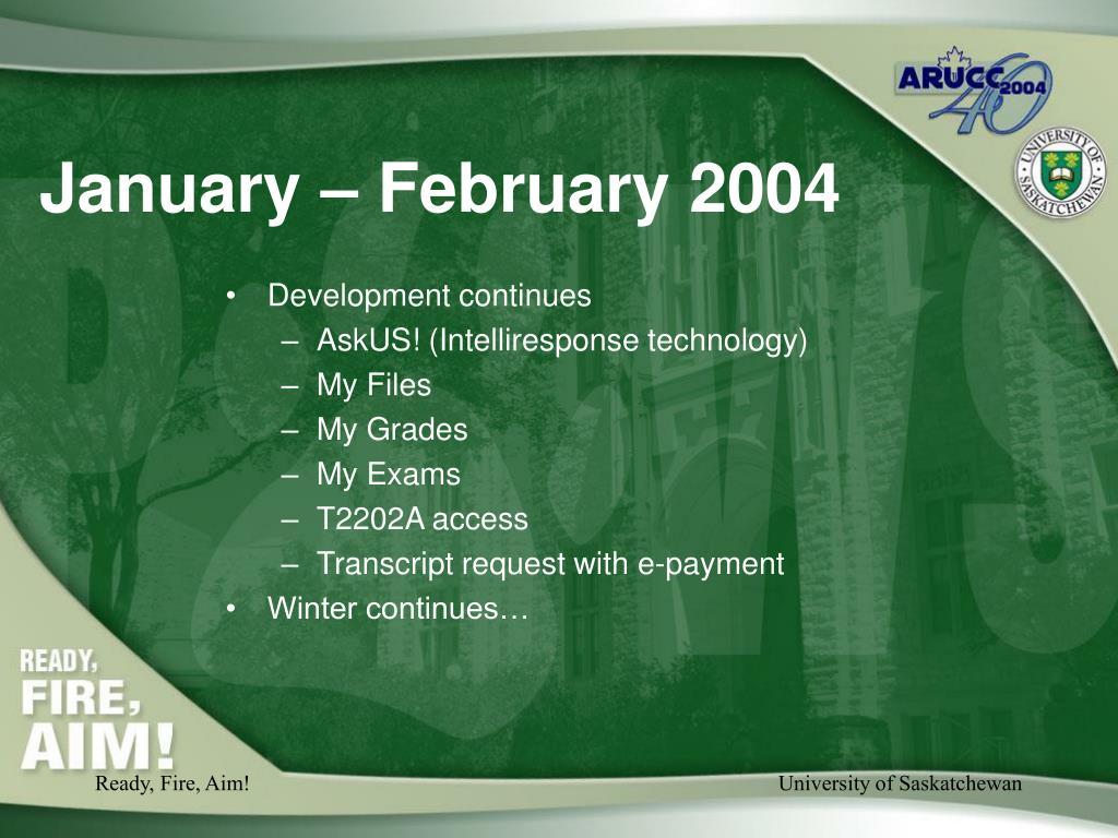 January – February 2004