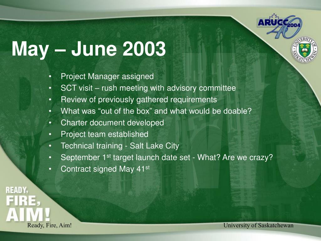 May – June 2003