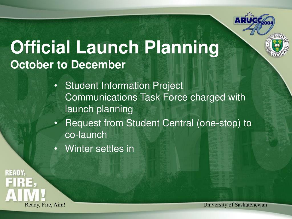 Official Launch Planning