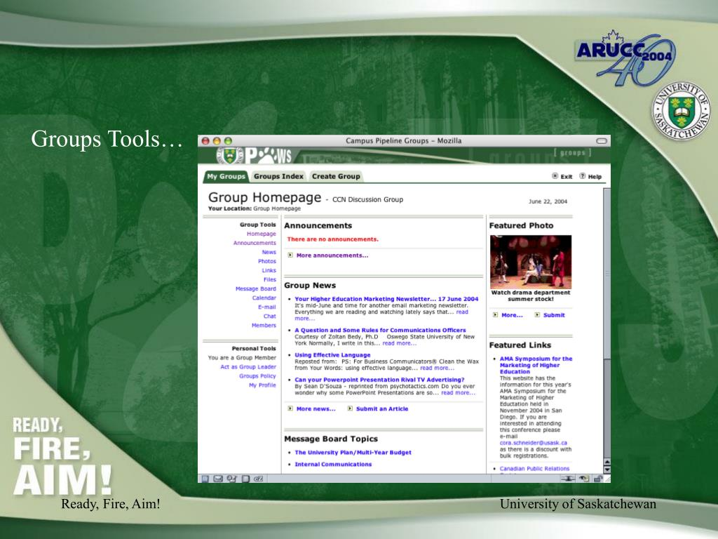 Groups Tools…