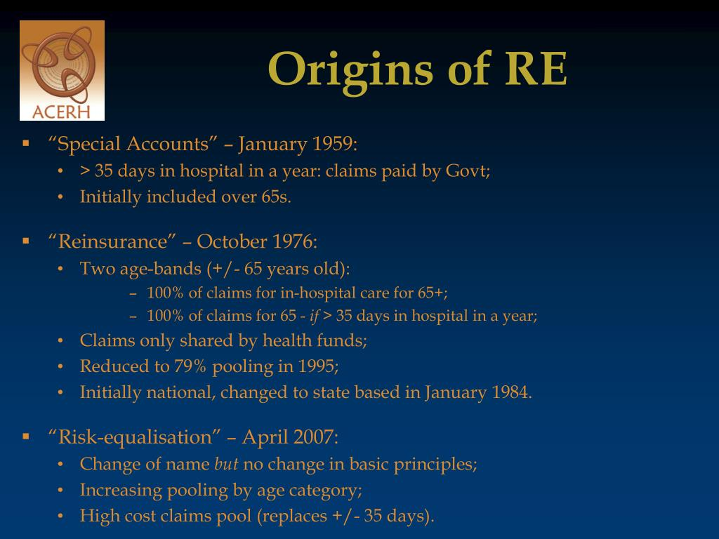 Origins of RE