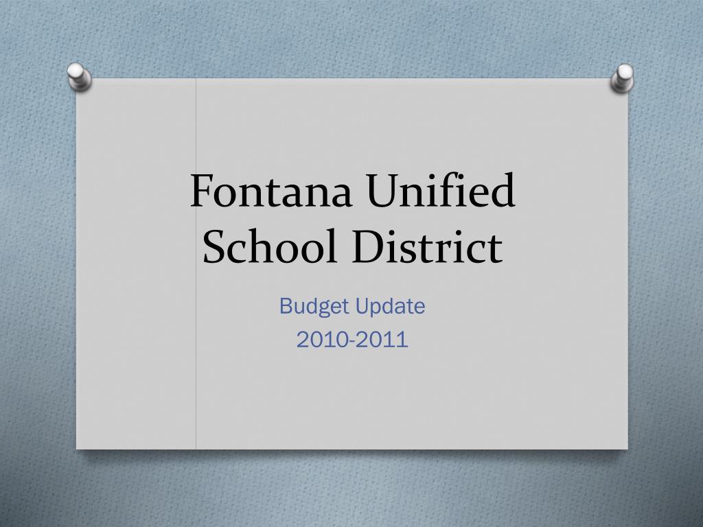 fontana unified school district