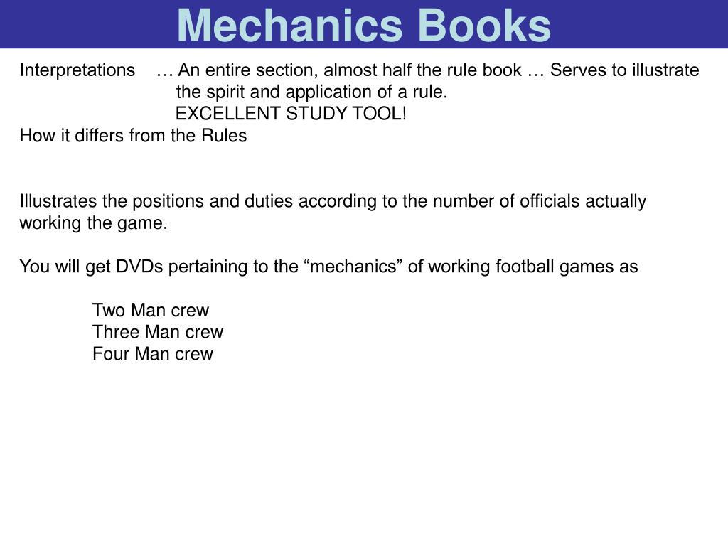 Mechanics Books