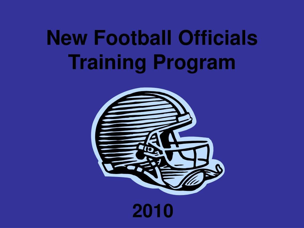 new football officials training program