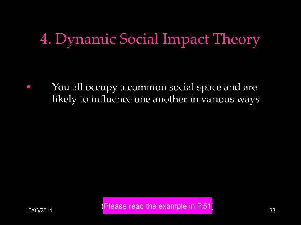 4. Dynamic Social Impact Theory