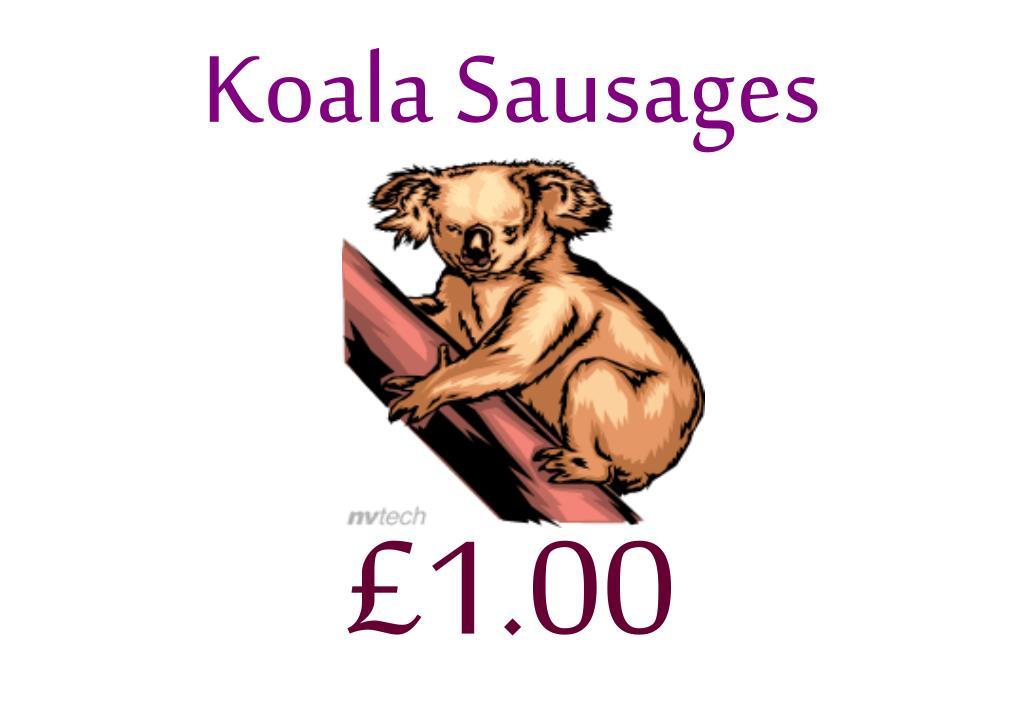 Koala Sausages