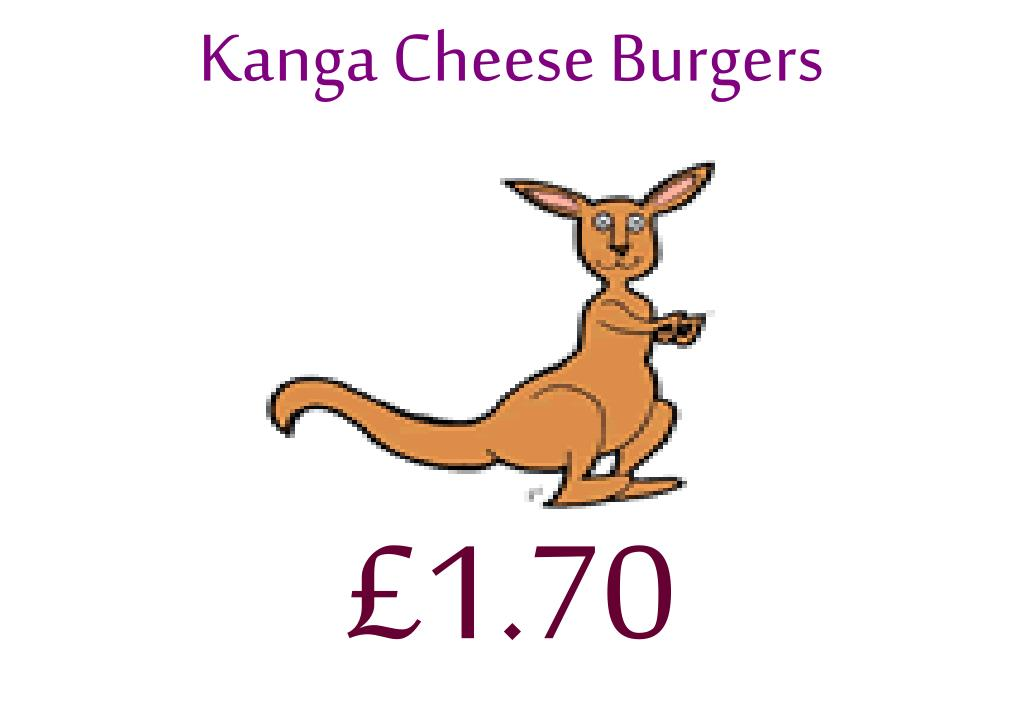 Kanga Cheese Burgers