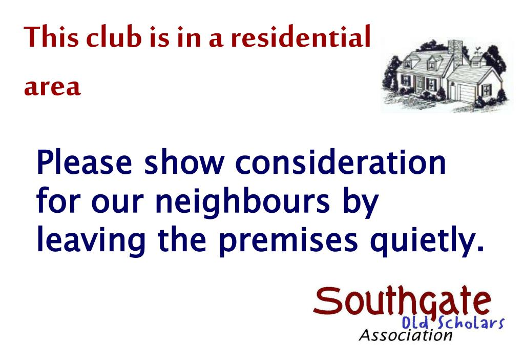 This club is in a residential area