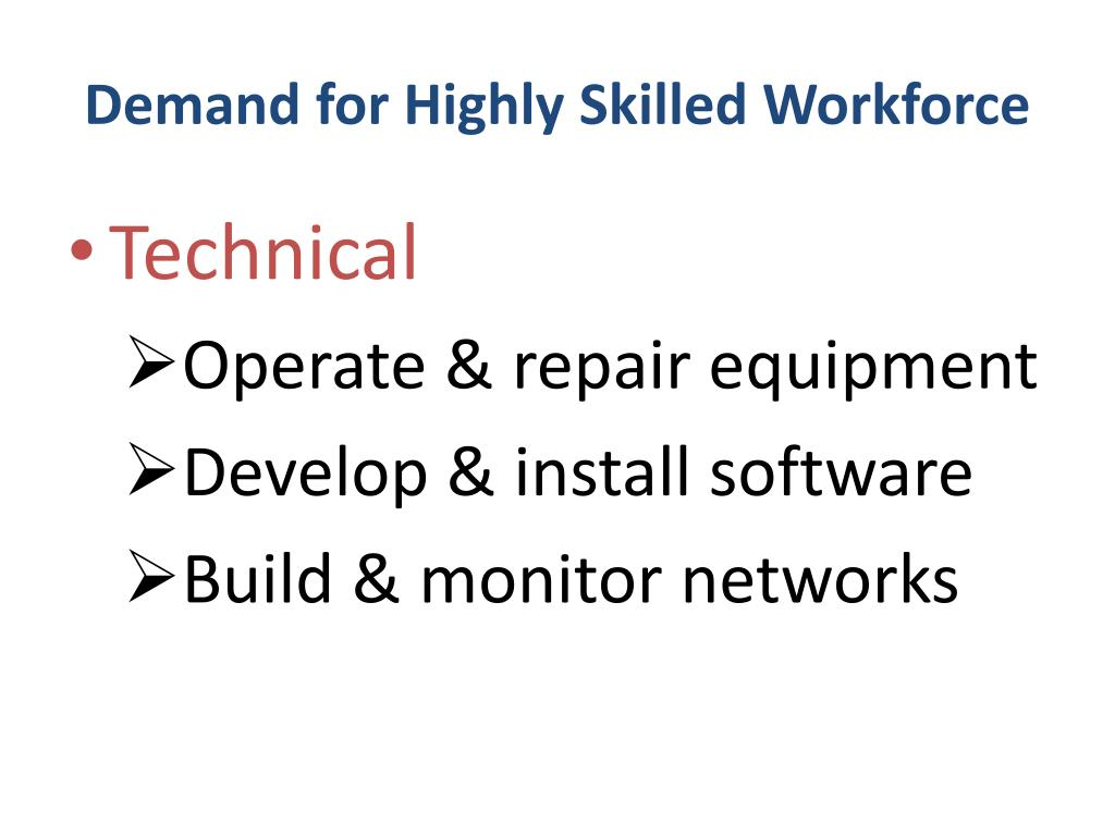 Demand for Highly Skilled Workforce