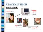 reaction times17
