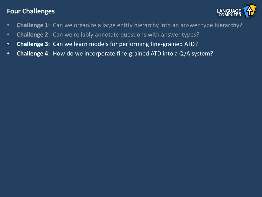 Four Challenges