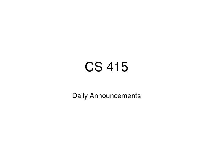 cs 415