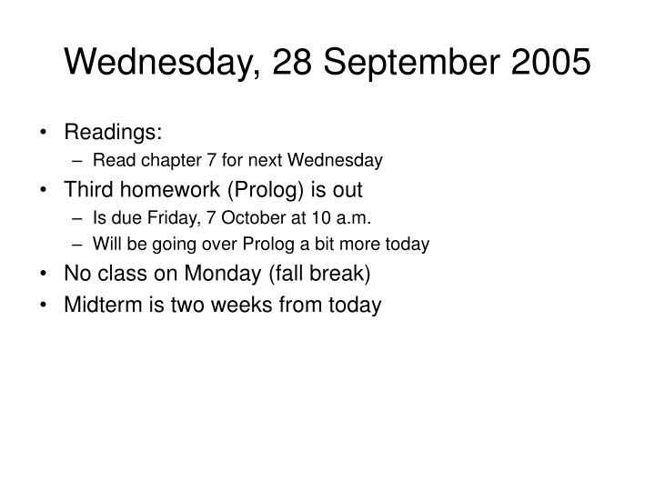 Wednesday, 28 September 2005