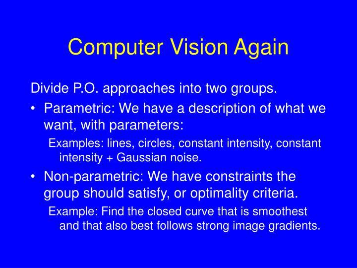 Computer Vision Again