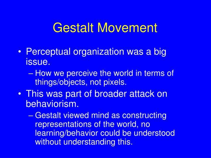 Gestalt Movement