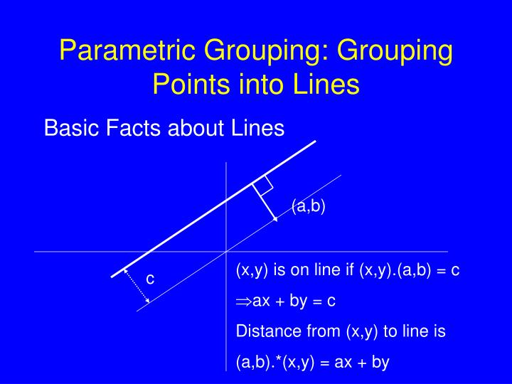 Parametric Grouping: Grouping Points into Lines