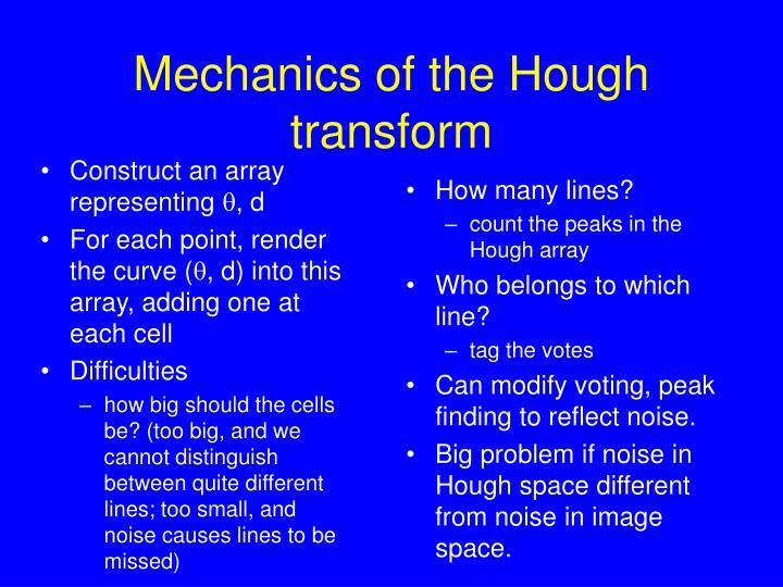 Mechanics of the Hough transform