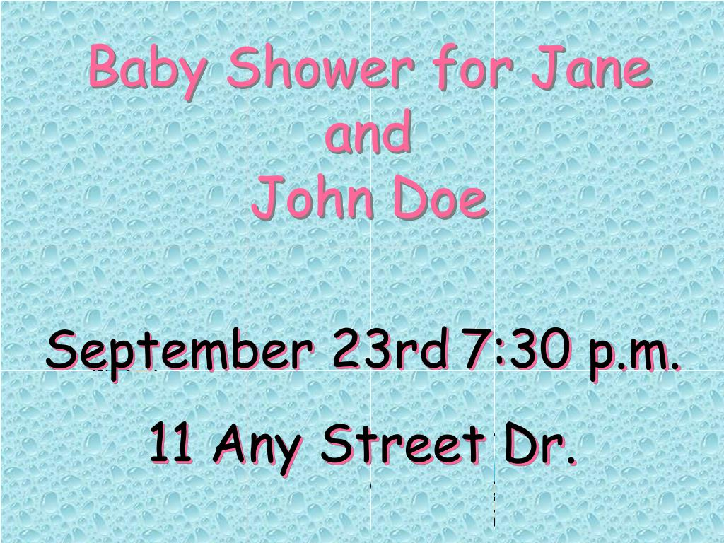 Baby Shower for Jane