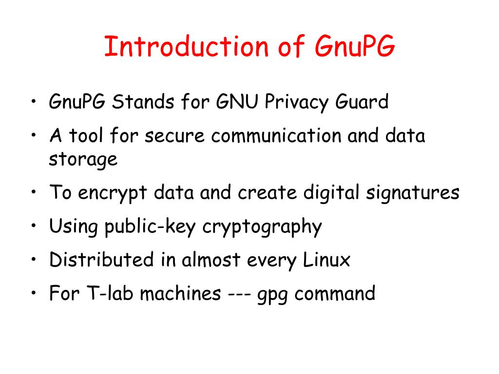 Introduction of GnuPG