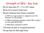 strength of des key size