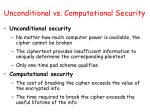 unconditional vs computational security