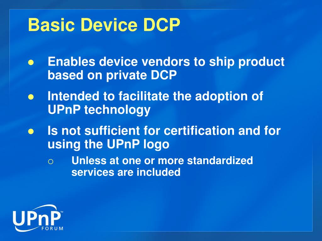 Basic Device DCP