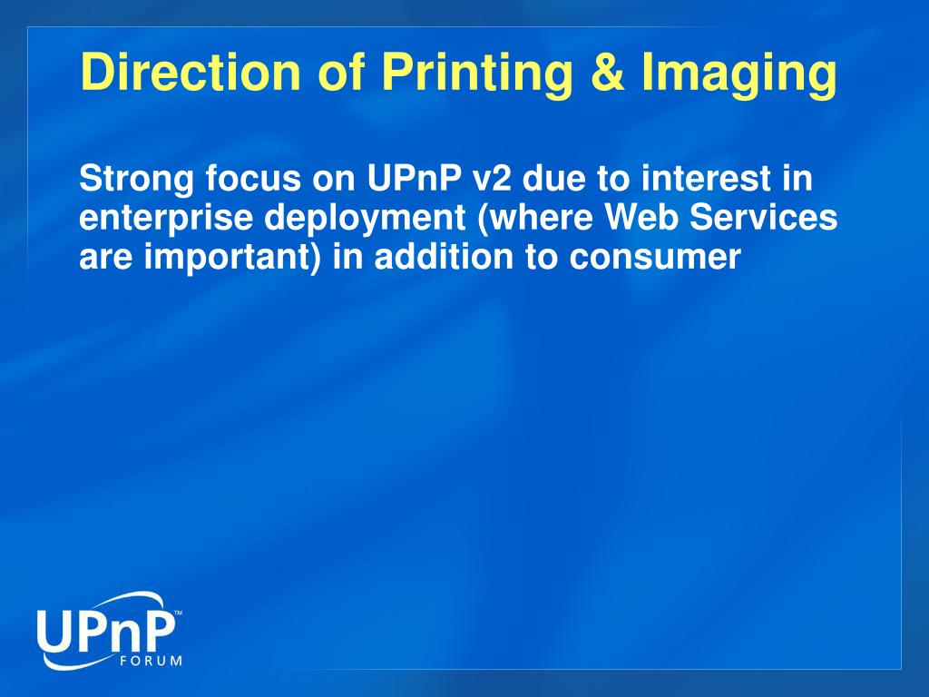 Direction of Printing & Imaging