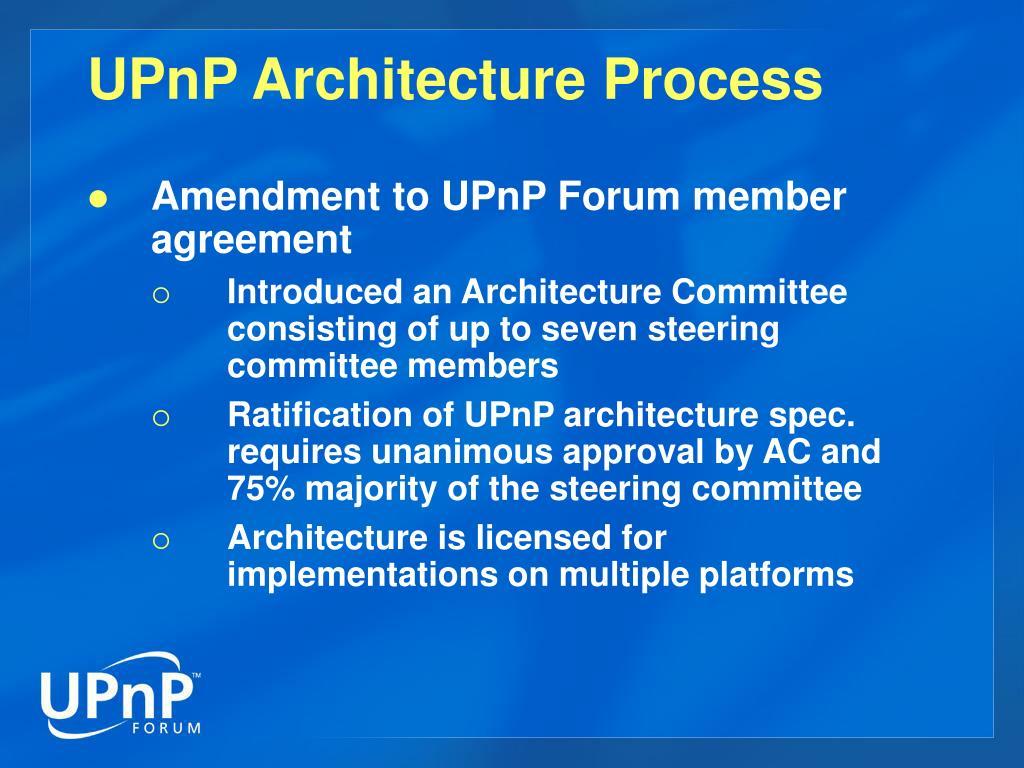 UPnP Architecture Process