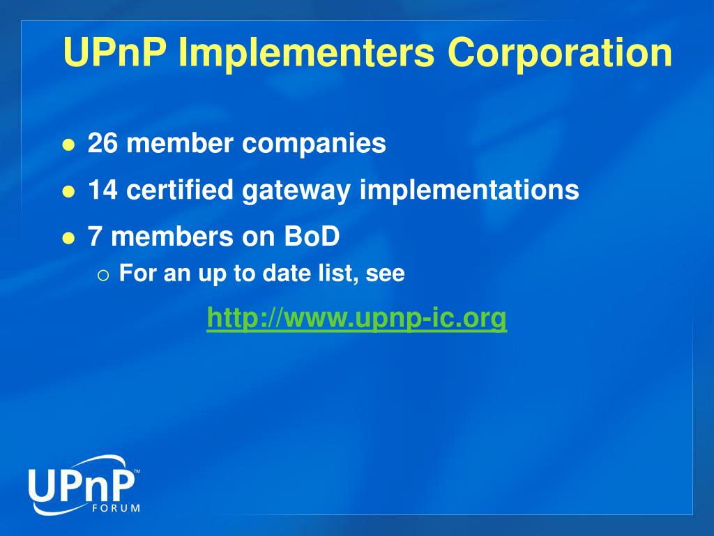 UPnP Implementers Corporation