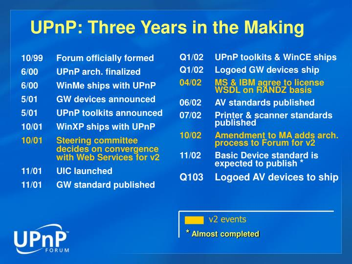 Upnp three years in the making l.jpg