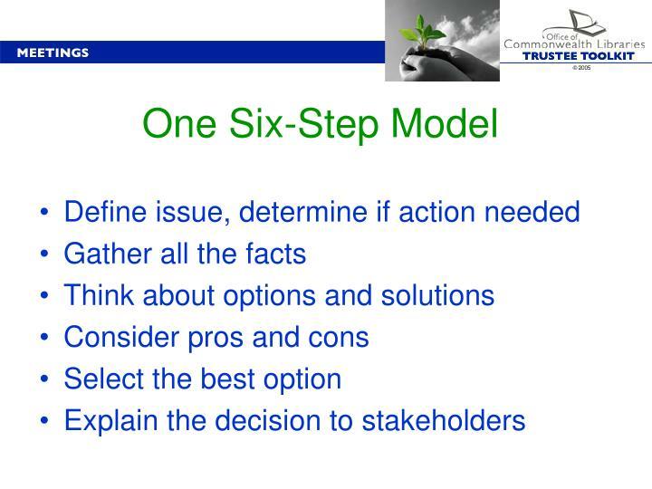 One Six-Step Model