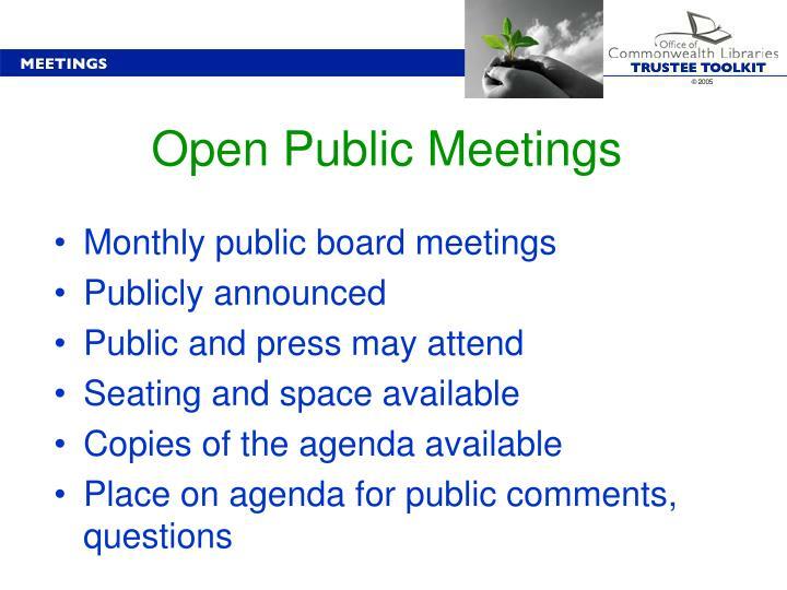 Open Public Meetings
