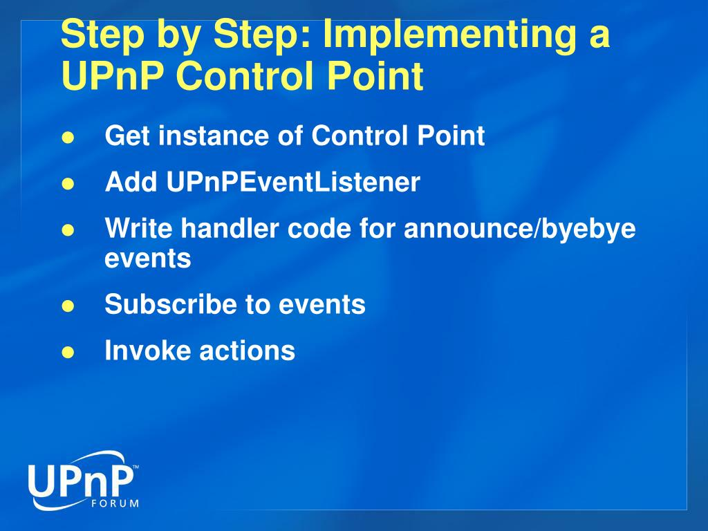 Step by Step: Implementing a UPnP Control Point