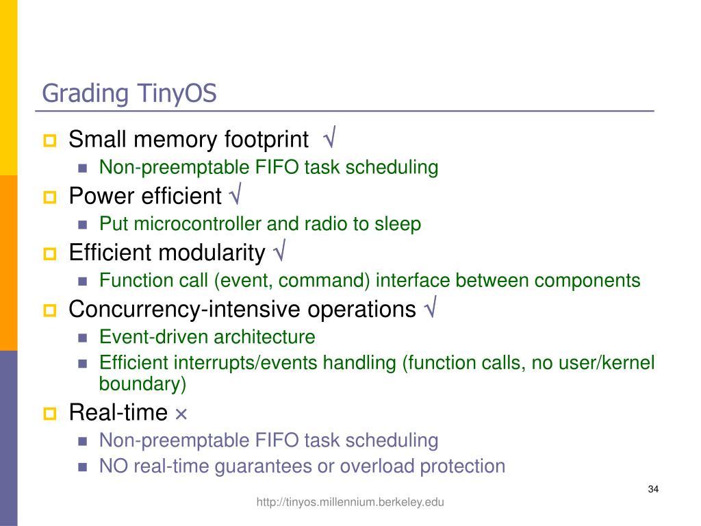 Grading TinyOS