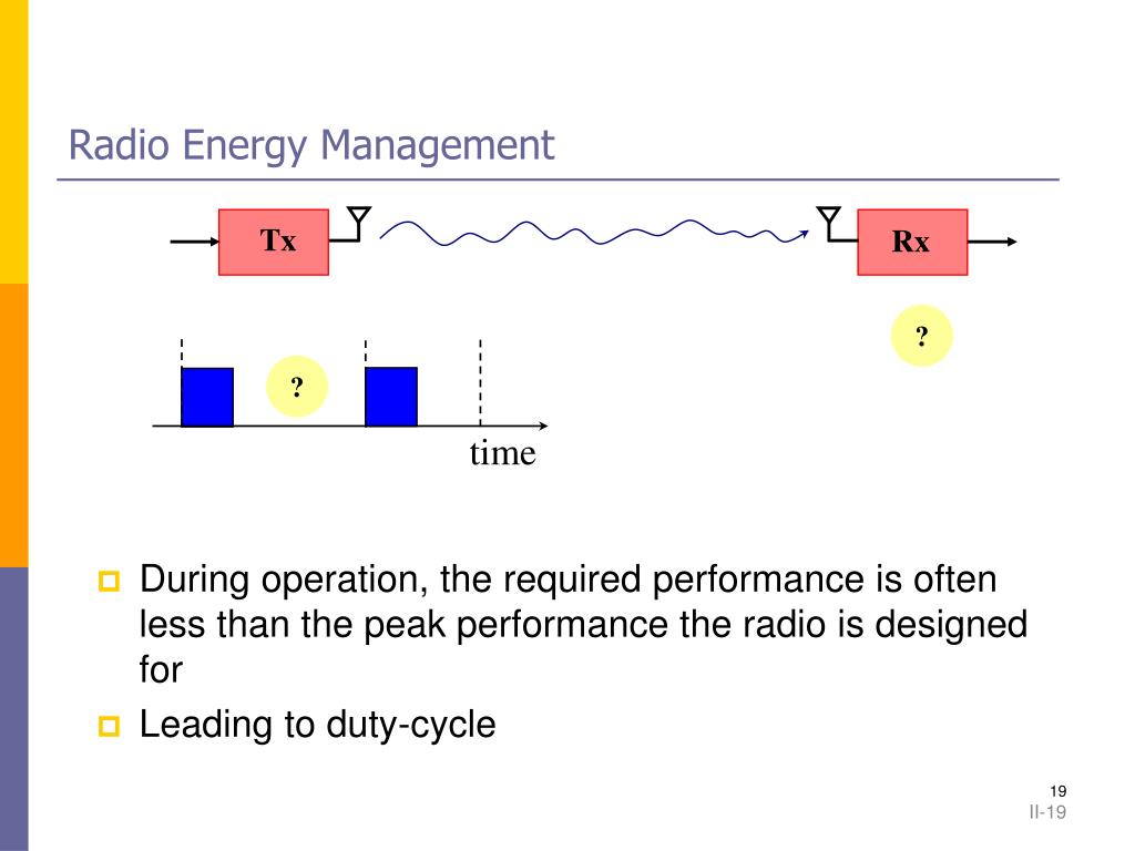 Radio Energy Management