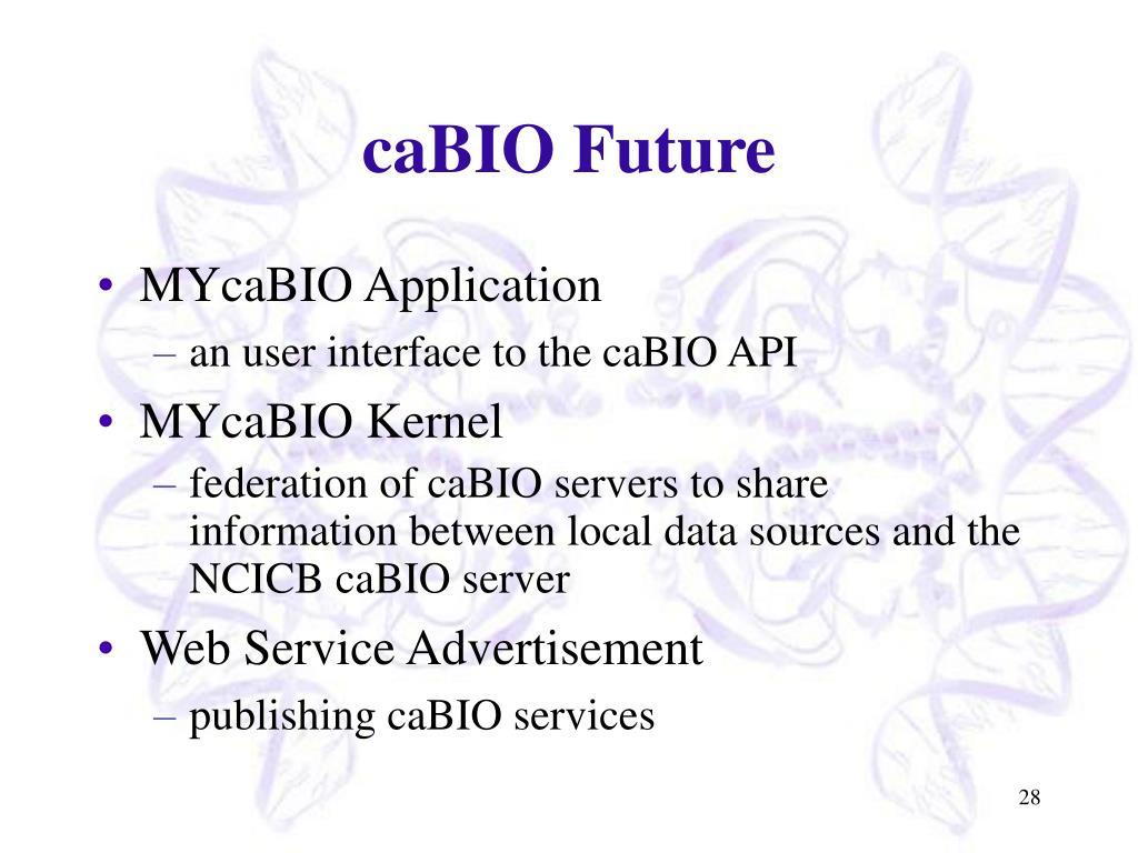 caBIO Future