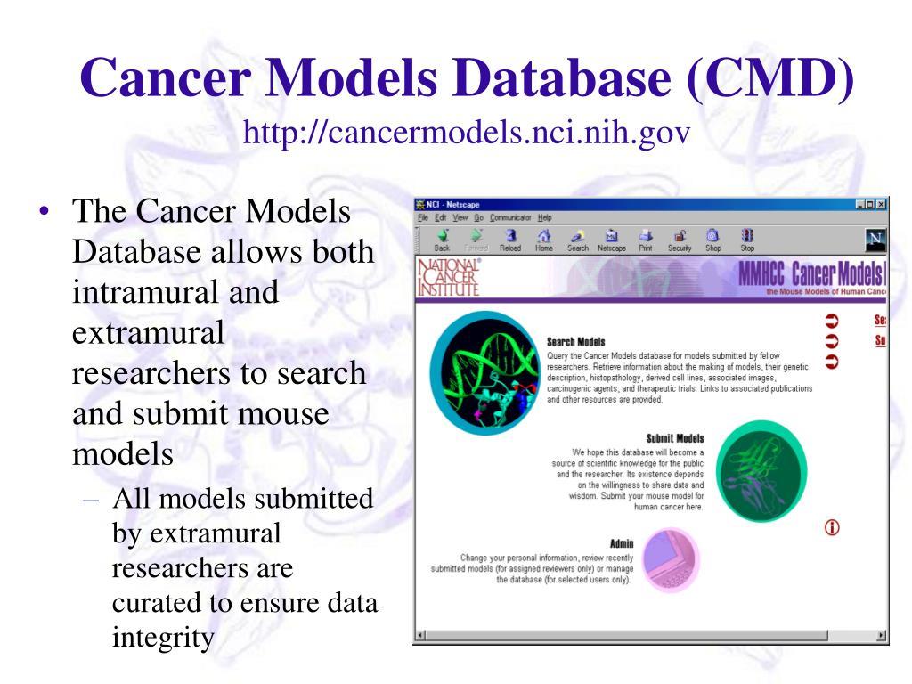 Cancer Models Database (CMD)