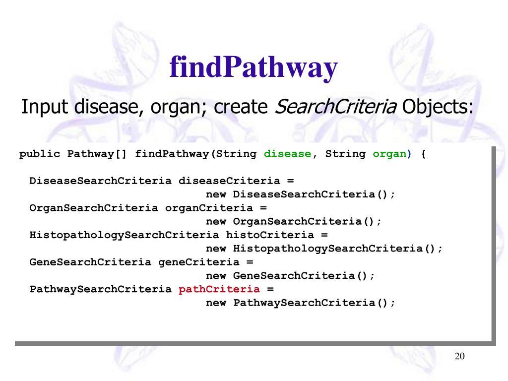 findPathway