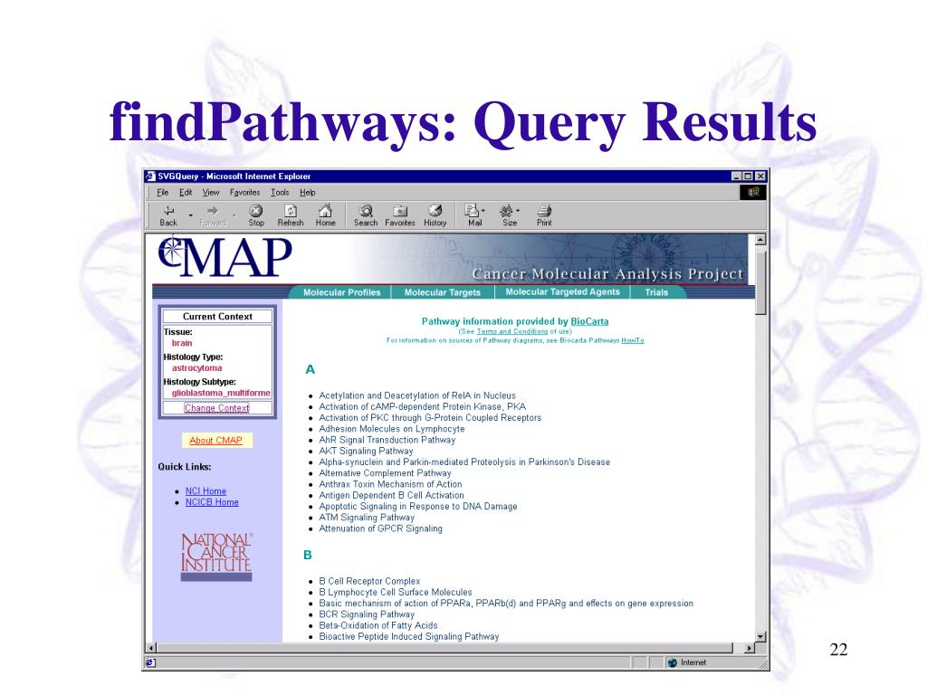 findPathways: Query Results