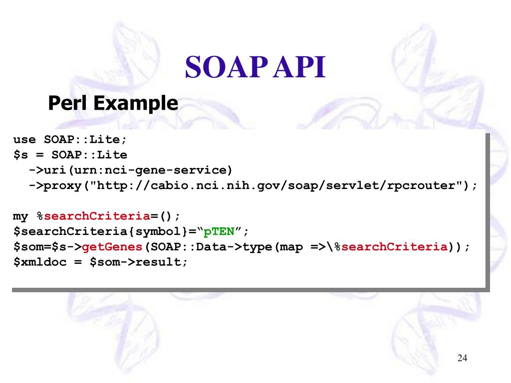SOAP API