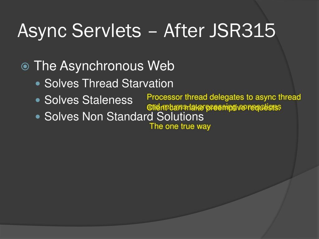Async Servlets – After JSR315