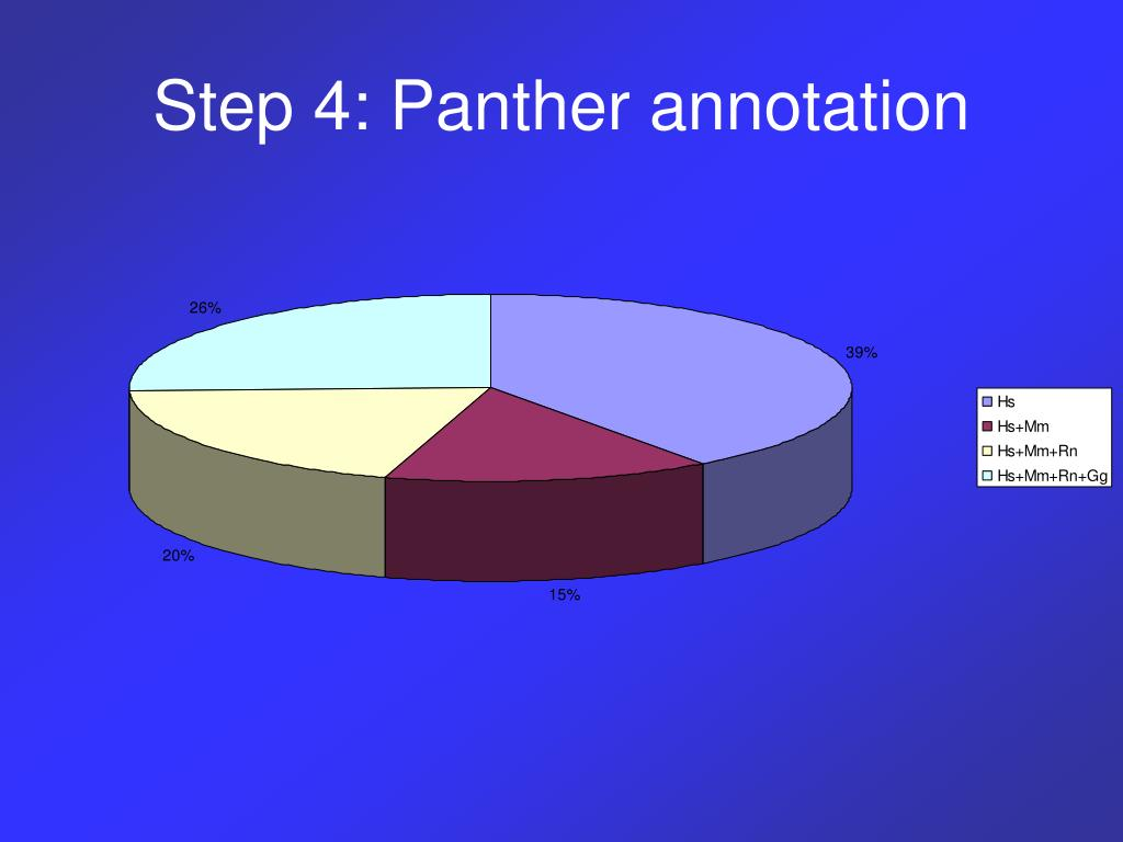 Step 4: Panther annotation