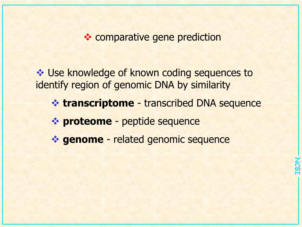 comparative gene prediction