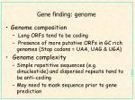 gene finding genome