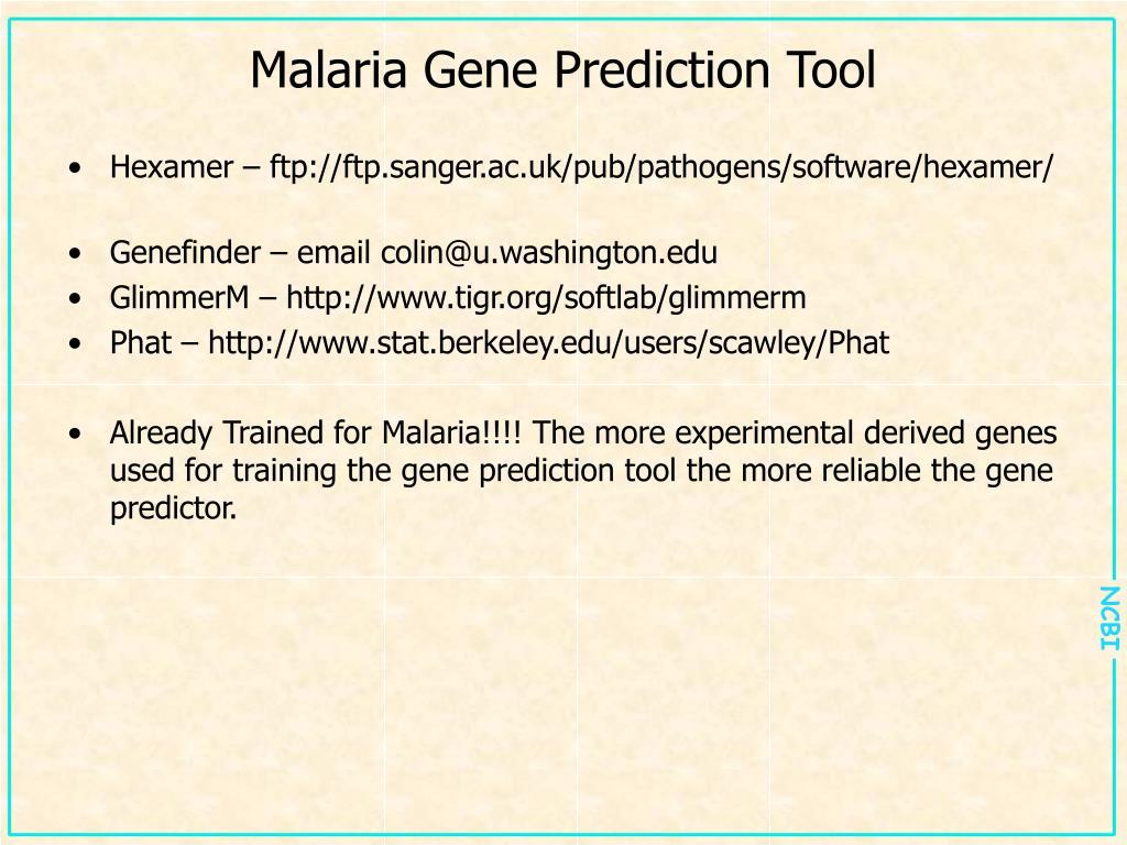 Malaria Gene Prediction Tool