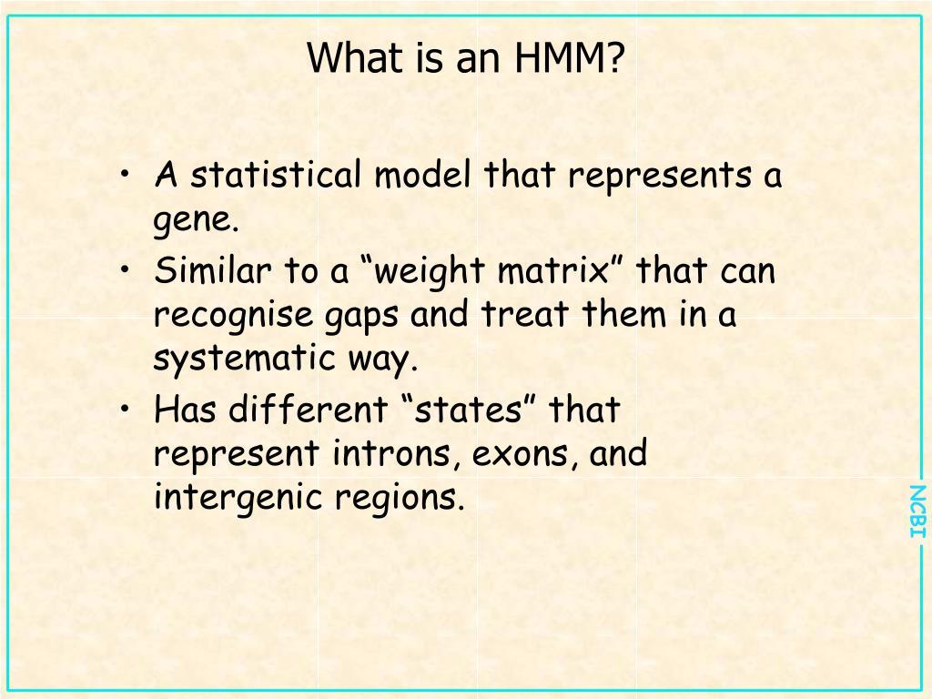 What is an HMM?