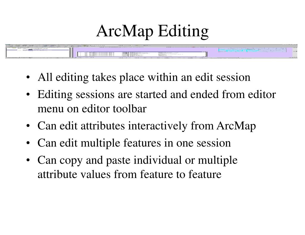 ArcMap Editing